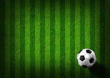 Fußballfußball auf Grasfeld Lizenzfreie Stockfotos