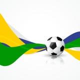 Fußballfußball-Designkunst lizenzfreie abbildung