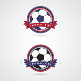 Fußballfußballausweislogo-Designschablonen Lizenzfreie Stockfotografie
