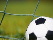 Fußballfußballgras Stockbild
