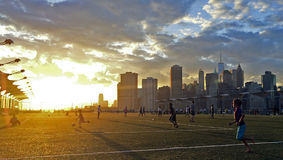 Fußballfußballspaß Stockfotografie