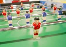 Fußballfußballspielmaschinennahaufnahme Lizenzfreies Stockfoto