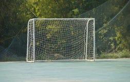 Fußballfußballziel Stockfoto