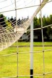 Fußballgatter Stockbild
