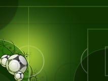 Fußballgrünauslegung Lizenzfreies Stockbild