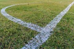 Fußballgras Stockbild
