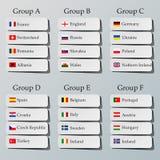 Fußballgruppenphasen stock abbildung