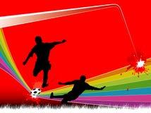 Fußballhintergründe Lizenzfreies Stockbild