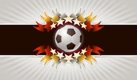 Fußballhintergrund Stockfotos