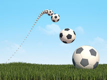 Fußballhintergrund 3d CG stock abbildung