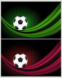 Fußballhintergrundabbildung Stockfoto