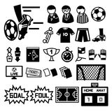 Fußballikonen eingestellt vektor abbildung