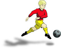 Fußballjunge Stockfoto