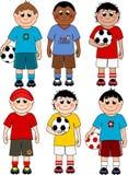 Fußballjungen Lizenzfreie Stockbilder