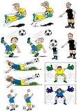 Fußballkarikaturen Lizenzfreie Stockbilder