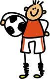 Fußballkind vektor abbildung