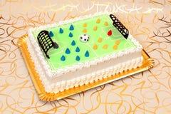 Fußballkuchen lizenzfreies stockfoto