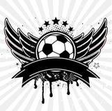 Fußballkugel-ANG-Flügel Stockbilder