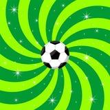 Fußballkugel auf Hintergrund Lizenzfreie Stockfotos