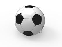 Fußballkugel auf weißem Hintergrund stock abbildung