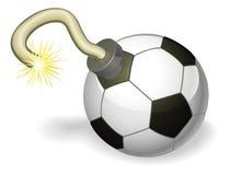 Fußballkugel-Bombenkonzept lizenzfreie abbildung
