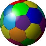 Fußballkugel in der Farbe Lizenzfreies Stockfoto