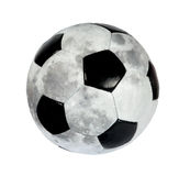 Fußballkugel in Form von dem Mond. (getrennt) Lizenzfreies Stockbild