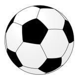 Fußballkugel getrennt auf Weiß. Lizenzfreies Stockfoto
