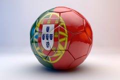 Fußballkugel mit Markierungsfahne Lizenzfreie Stockbilder