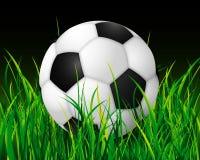 Fußballkugel nite Stadion Lizenzfreie Stockbilder