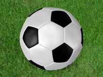 Fußballkugel oder -fußball Stockfoto
