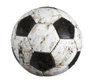 Fußballkugel schmutzig stockfotos