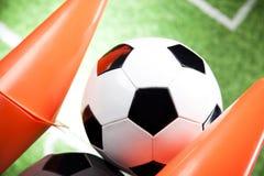 Fußballkugel, umrissen Stockbilder