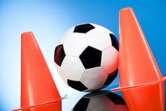 Fußballkugel, umrissen Stockbild