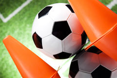 Fußballkugel, umrissen Stockfotografie