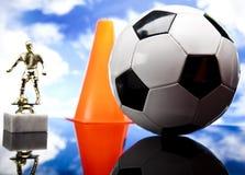Fußballkugel, umrissen Lizenzfreies Stockfoto
