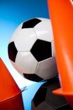 Fußballkugel, umrissen Lizenzfreie Stockfotografie