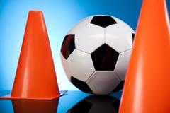 Fußballkugel, umrissen Stockfoto