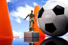 Fußballkugel, umrissen Lizenzfreies Stockbild