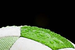 Fußballkugelabschluß oben Lizenzfreie Stockfotos
