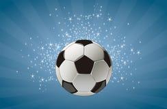 Fußballkugelhintergrund Stockfoto
