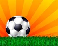 Fußballkugelhintergrund Lizenzfreies Stockfoto