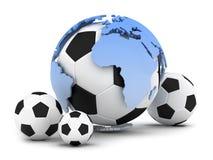 Fußballkugeln stock abbildung