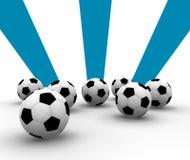 Fußballkugeln Stockfotos