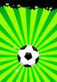 Fußballkugelplan Lizenzfreies Stockbild