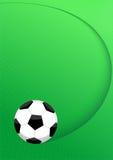 Fußballkugelplan Stockfotos