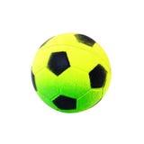 Fußballkugelspielzeug getrennt auf Weiß Stockbilder
