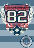 Fußballliga 82. vektor abbildung