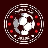 Fußballlogo, Amerika-Logo, klassisches Logo Stockfotos