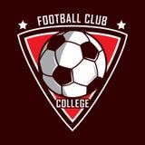 Fußballlogo, Amerika-Logo, klassisches Logo Stockbild